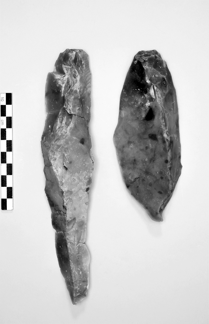 Two crested blades from Borneck-north.